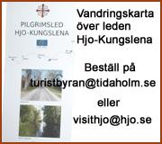 vandringskarta över pilgrimsled hjo-kungslena beställ hos turistbyrån i Hjo eller Tidaholm